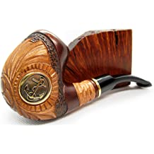 Fashion NEW WoodenTEMPLAR Tobacco Smoking Pipe 5.5 Wood Brass Inlaid Handcrafted and Cooler Filter