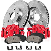 IS350 Fits Lexus GS430 GS350 Front Drill Slot Brake Rotors+Ceramic Brake Pads