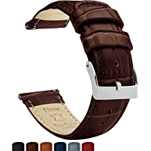 1bf1f807b Barton Alligator Grain - Quick Release Leather Watch Bands - Choose Color -  16mm, 18mm