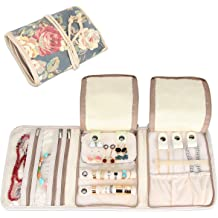 d41a5de7b Teamoy Travel Jewelry Roll, Jewelry Storage Bag Organizer for Necklaces,  Earrings, Bracelets, Rings, Brooches and More, Compact and Easy to .