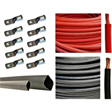 EWCS Branded BLACK+RED 15 FEET OF EACH COLOR COMBO PACK 2//0 Gauge Premium Extra Flexible Welding Cable 600 Volt Made in the USA!