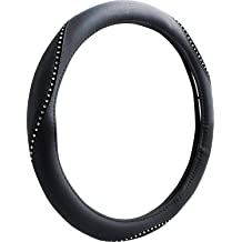 Custom Accessories 38465 Black Molded Steering Wheel Cover with Soft Grip and Jewels