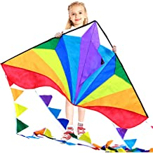 Outside Activities for Friends and Family. Great for The Beach Game Stunt Rainbow and Diamond 2 Pack Kites with Colorful Tails Mocado Kite for Kids-Adults Easy-to-Fly