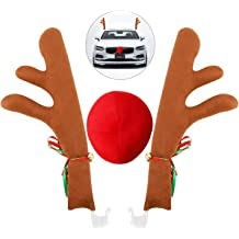Kovot Reindeer Car Set: Includes Car Jingle Bell Antlers Antlers Nose and Tail for The Trunk Standard Set