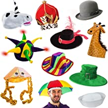 2c2c8064b9b 6 Assorted Dress Up Costume  amp  Party Hats by Funny Party Hats (6 Adult