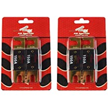 Heavy Duty ANL Fuse Holder Block CQ-1100 and 2 ANL 250 Amp Blade Fuses Audiopipe