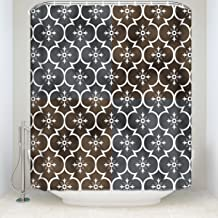 EZON-CH Waterproof Modern Good Resistance Creative Black Get Naked Script Polyester Farbic Bathroom Shower Curtain 72X96IN