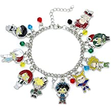 Blue Heron Beauty and The Beast 10 Logo Charms Lobster Clasp Bracelet w//Gift Box