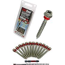 SNUG Fasteners Block /& Brick 100 Qty 1//4 x 3-1//4 Hex Head Diamond Tip Concrete Screws to Anchor Masonry SNG502