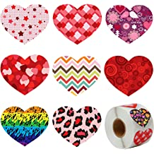 ArtCreativity Valentine/'s Day Roll Stickers Assortment for Kids Toddlers Valentine Stickers and Treats Party Favors for Boys 5 Rolls with 500 Stickers Girls Home-Made Holiday Cards Supplies