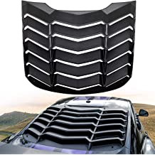 For Ford Mustang Coupe 2Pcs Vintage Style Rear Quarter Side Window Louver Sun Shade Cover