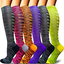 Compression Socks for Women and Men C-Assorted 25, Small//Medium -Best for Running,Nursing,Circulation,Recovery /& Travel 1//3//5 Pairs