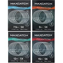 KastKing Rubicon Tapered Leaders Fly Fishing Line 5 Pack //6 Pack For Fly Fishing