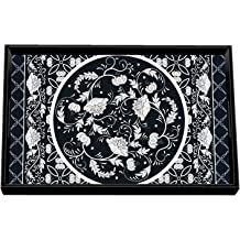 Avocado Michel Design Works Decorative Oval Metal Platter 16.25 x 12.75-Inch