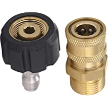 100/% Solid Brass 3//8 Inch HINTER Natural Gas Quick Connect Fittings/£/¬LP Gas Propane Hose Quick Disconnect Kit