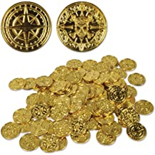 576 PIRATE GOLD COINS PIRATES TREASURE CHEST PLASTIC COIN LOOT TOY PLAY MONEY