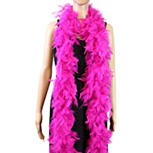 Hot Pink//Black mix 100 Gram Chandelle Feather Boa Dance Party Halloween Costume