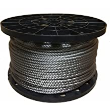 """T304 Stainless Steel Cable Wire Rope,3//8/"""",7x19,100ft Aircraft Reel Machinery"""
