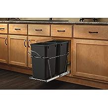 Under Counter Trash Can Pull Out Kitchen Shelf Hygene Hidden Waste Disposal