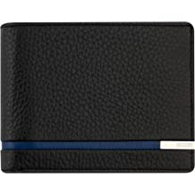 ID Window 12 Business Credit Card Holder Splendid Gift for Men Extra Capacity Giudi Deluxe Black Trifold Mens Wallet Ultimate Minimalist Design Beautiful Soft Touch Genuine Leather