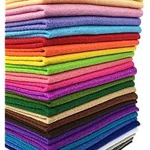 Felt Fabric Sheets,60Pcs Soft Felt Nonwoven Fabric Assorted Colors for DIY Craft