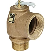 25 psi Set Pressure Apollo Valve 10-512 Series Brass Safety Relief Valve ASME Steam 1//2 NPT Male x Female