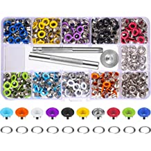 300 Pcs 5mm Grommet Eyelets Set for Clothes Fabric Shoes Tarpaulin Bag Paper Leather Crafts with 3 Pcs Grommets Hand Knitting Tools MaiKeEr Colored Metal Grommets Kit