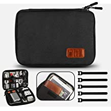 Auto Backseat Protector Oxford cloth Black HONCENMAX Car Seat Back Organizer Waterproof Kick Mat Great Travel Accessory 4 USB Port for Mobile Phone IPad