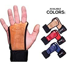 f7b654c1ca52 Crossfit Gloves and Gymnastics Grips - Workout Gloves with Wrist Support -  Weight Lifting Gloves from Natural Leather - Gym Gloves for Cross .