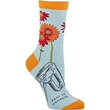 Pink//Plum Blue Q Novelty Women/'s Crew Socks I/'m Introverting Go Away OSFA