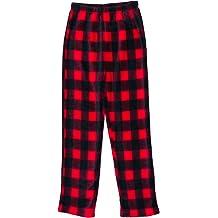 Red Buffalo Plaid Moose Sweatpants Little Boys Jogger Fleece Pants