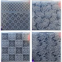 Kwan Crafts Diamond Pattern Plastic Embossing Folders for Card Making Scrapbooking and Other Paper Crafts,10.5x14.4cm
