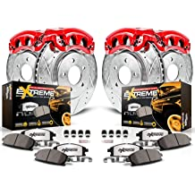 Power Stop KCOE1576 Autospeciality Replacement Front Caliper Kit Calipers OE Rotors Ceramic Brake Pads