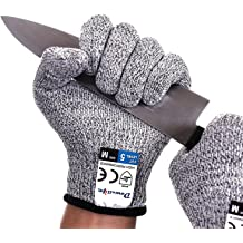 LYOUCI 2 Pairs Cut Resistant Gloves,Safety Cutting Gloves for Kitchen,Food Grade Level 5 Protection,Fish Fillet Processing,Oyster Shucking,Meat Cutting and Wood Carving
