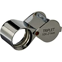 HTS 203T1 10x 21mm Black Triplet Loupe with Leather Case