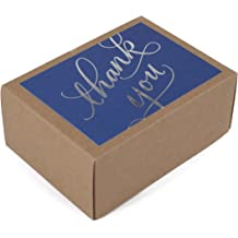 Foil Embellished Iconikal Kraft ChristmasThank You Cards with Envelopes 35-Count