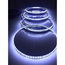 Sando Tech IP68 Waterproof 4 Lights//Set Amber Orange Brightest 300Leds Led Wheel Ring Lights Rim Lights Tire Lights