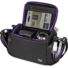 DURAGADGET Hard Shell EVA Box Case in Black with Carabiner Clip /& Twin Zips Compatible with PNJ HD750 HD950 Action Cameras HD850