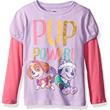 I Love My Dad Paw Patrol Skye Fathers Day Toddler//Kids Girls Fitted T-Shirt