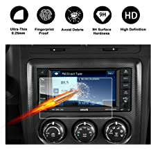 Dodge Challenger Uconnect Touch Screen Car Display Navigation Screen Protector 6.5-Inch RUIYA HD Clear Tempered Glass Car in-Dash Screen Protective Film