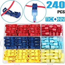 Nilight 120 Pack Quick Splice Wire Terminals Connectors Electrical Crimp Cable
