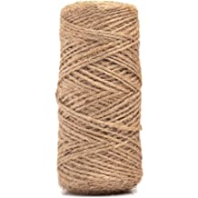 Resinta 3 Rolls Christmas Twine Cotton String Natural Jute Twine for Christmas Gift Wrapping DIY Arts Crafts 984 Feet Totally