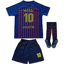 3ec98d965 Da Games Youth Sportswear Barcelona Messi 10 Kids Home Soccer Jersey Shorts  Football Socks Set