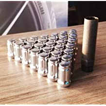 14X2.0 R.H Chrome Duplex Spline Drive Tuner Installation Kit Thread Pitch 32 Lug Nuts /& 1 Key