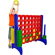 """4 in a Row Giant Connect Game with Sleek Design That Stands 42/"""" Tall  UNPAINTED"""