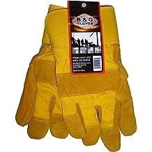 2 Pair X-Large B/&G Latex Dipped High-Visibility Orange Work Gloves