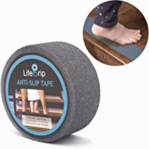 Tub and Shower Treads Clear Stairs LifeGrip Anti Slip Fine Resilient Safety Tape 1 X 15 Comfortable for Bare feet Soft Pools Boats adds Non-Slip Traction to Tubs