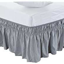 with Platform Three Sided Coverage Ruffle Bed Skirts Pink Shreem Linen Ruffled Bed Skirt with Split Corners Pink Queen Gathered Style Easy Fit up to 15 Inch Drop Queen BedSkirt