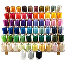 63 Spools 500m each Polyester Embroidery Machine Thread Set