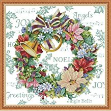 Joy Sunday Cross Stitch Kits 11CT Stamped Autumn Countryside 15.4x14.2 or 39cmx36cm Easy Patterns Embroidery for Girls Crafts DMC Cross-Stitch Supplies Needlework Scenery Series